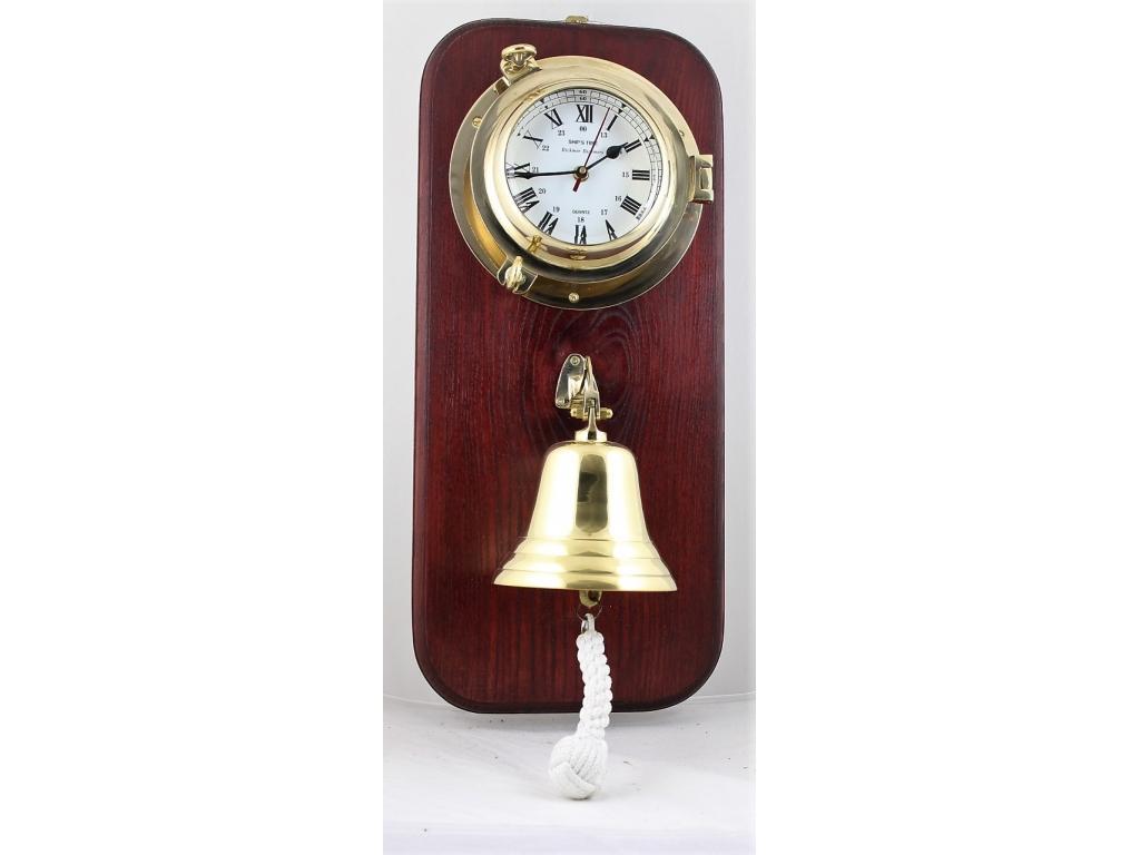463 Корабен часовник месинг /ф – 225 мм./ с камбана