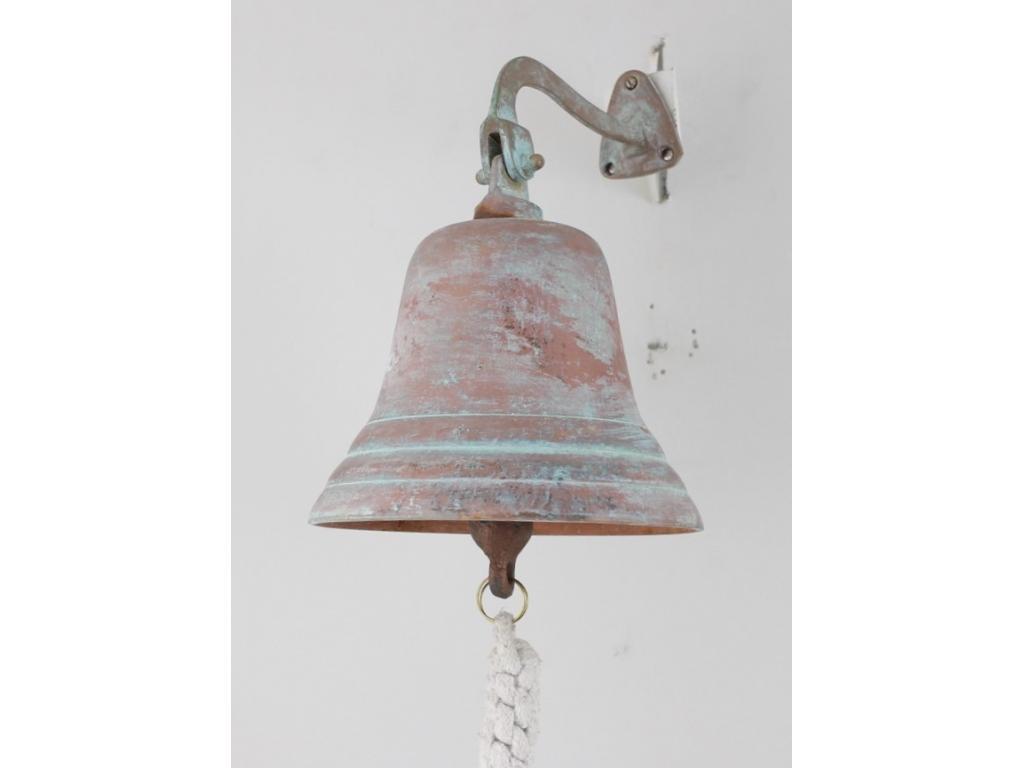 """Корабна антична камбана """"Antique Green Patina"""" от плътен месинг"""